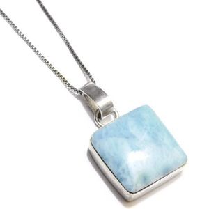 LARIMAR 925 Sterling Silver Necklace